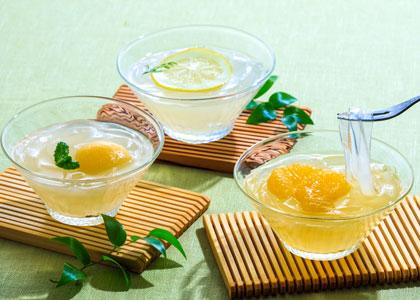 金澤くずきり3種は甘夏・レモン・桃の3種
